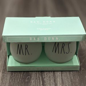 Rae Dunn MR. MRS. Stemless Wine Glass